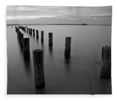 Jetty At Sunset Fleece Blanket