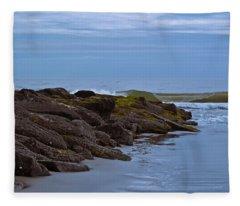 Jetty Vs Waves Fleece Blanket