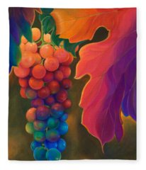 Fleece Blanket featuring the painting Jewels Of The Vine by Sandi Whetzel