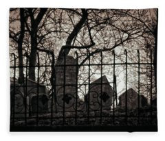 Jewish Cemetery Prague Fleece Blanket