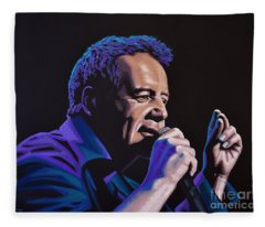 Jim Kerr Of The Simple Minds Painting Fleece Blanket