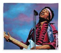 Jimi Hendrix 2 Fleece Blanket