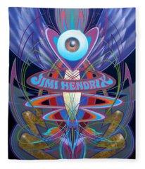 Jimi Hendrix Memorial Fleece Blanket
