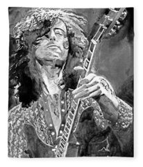 Jimmy Page Mono Fleece Blanket