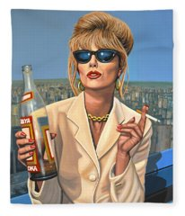 Joanna Lumley As Patsy Stone Fleece Blanket