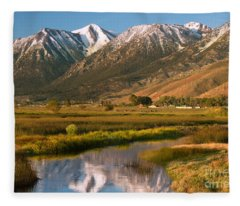Job's Peak Reflections Fleece Blanket