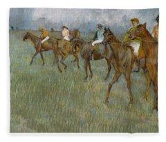 Jockeys In The Rain, 1886 Fleece Blanket