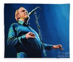 Joe Cocker Painting Fleece Blanket