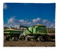 John Deere Combine 9770 Fleece Blanket