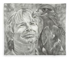 John Denver And Friend Fleece Blanket