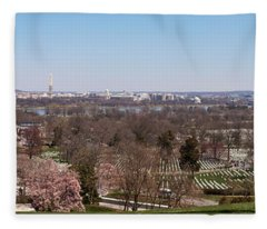 John F. Kennedy Gravestones Fleece Blanket