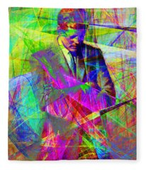 John Fitzgerald Kennedy Jfk In Abstract 20130610 Fleece Blanket