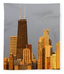 John Hancock Center Chicago Fleece Blanket