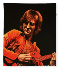John Lennon Painting Fleece Blanket