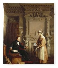 John Sheepshanks And His Maid Fleece Blanket