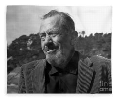 John Steinbeck Pebble Beach, Monterey, California 1960 Fleece Blanket