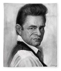 Johnny Cash Fleece Blanket