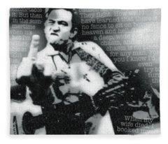 Johnny Cash Rebel Fleece Blanket