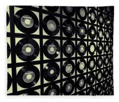 Johnny Cash Vinyl Records Fleece Blanket