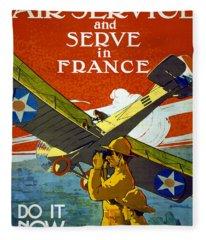 Join The Air Service, 1917 Fleece Blanket
