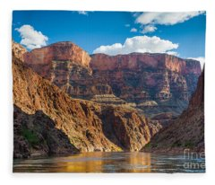 Journey Through The Grand Canyon Fleece Blanket