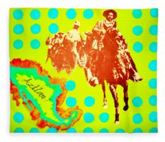 Journey To Aztlan Fleece Blanket