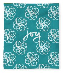 Joy Boho Floral Print Fleece Blanket