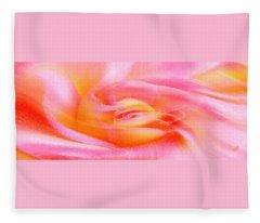 Joy - Rose Fleece Blanket