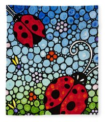 Joyous Ladies Ladybugs Fleece Blanket