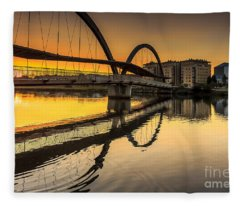 Jubia Bridge Naron Galicia Spain Fleece Blanket