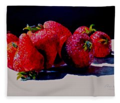 Juicy Strawberries Fleece Blanket