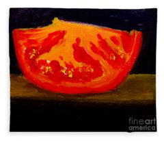 Juicy Tomato Modern Art Fleece Blanket