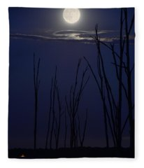 July 2014 Super Moon Fleece Blanket