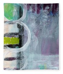Junction- Abstract Expressionist Art Fleece Blanket