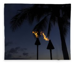 Just After Sunset The Beach Party Is Starting Fleece Blanket