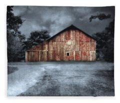 Night Time Barn Fleece Blanket