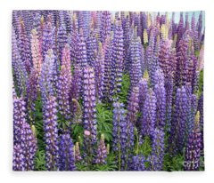 Just Lupins Fleece Blanket