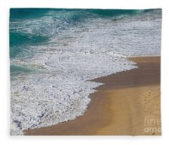 Just Waves And Sand By Kaye Menner Fleece Blanket