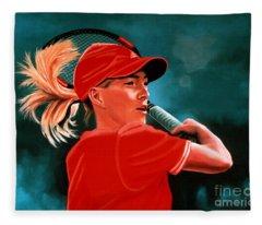 Justine Henin  Fleece Blanket
