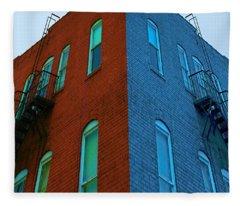 Juxtaposition - Old Building Fleece Blanket