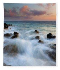 Kahoolawe Sunset Fleece Blanket