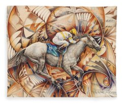 Kaleidoscope Rider Fleece Blanket