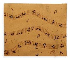 Kamasutra Music Coffee Painting Fleece Blanket