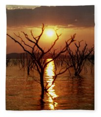 Kariba Sunset Fleece Blanket