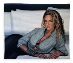 Katherine Heigl Fleece Blanket