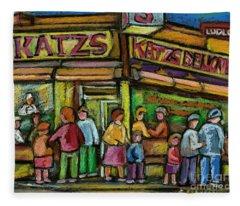 Katz's Deli Fleece Blanket