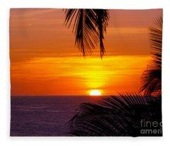 Kauai Sunset Fleece Blanket