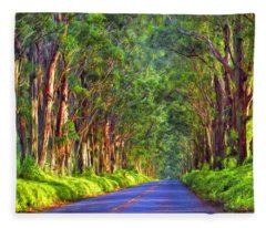 Kauai Tree Tunnel Fleece Blanket