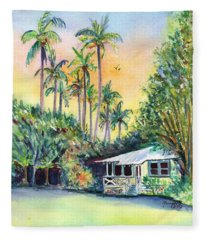 Kauai West Side Cottage Fleece Blanket