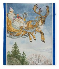 Kay And The Snow Queen Fleece Blanket
